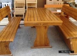 Маси и пейки, столове от дърво