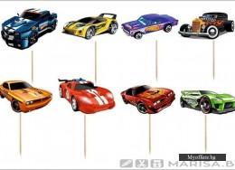 Комплект топери Hot Wheels – 8 броя , еднолицеви