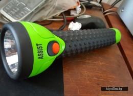 Прожектор фенер водоустойчив с три батерии от големите