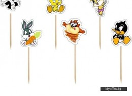 Топери Looney Tunes за кексчета и мъфини – 6 броя