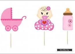 Комплект топери Baby Girl – 6 броя