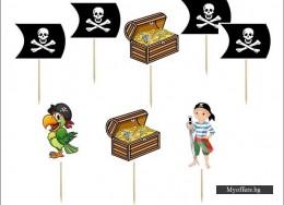Комплект топери Pirates – 8 броя