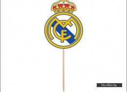 Топери FC Real Madrid Football – 8 броя в комплект