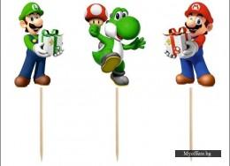 Топери за мъфини Super Mario – 6 броя в комплект