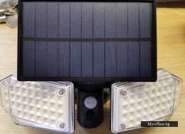 LED соларна,стенна лампа