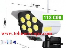 LED прожектор  200W  + сензор , солар и дистанционно