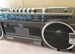 80s Vintage Sharp Qt27 Portable Boombox Stereo Radio Cassette Player V