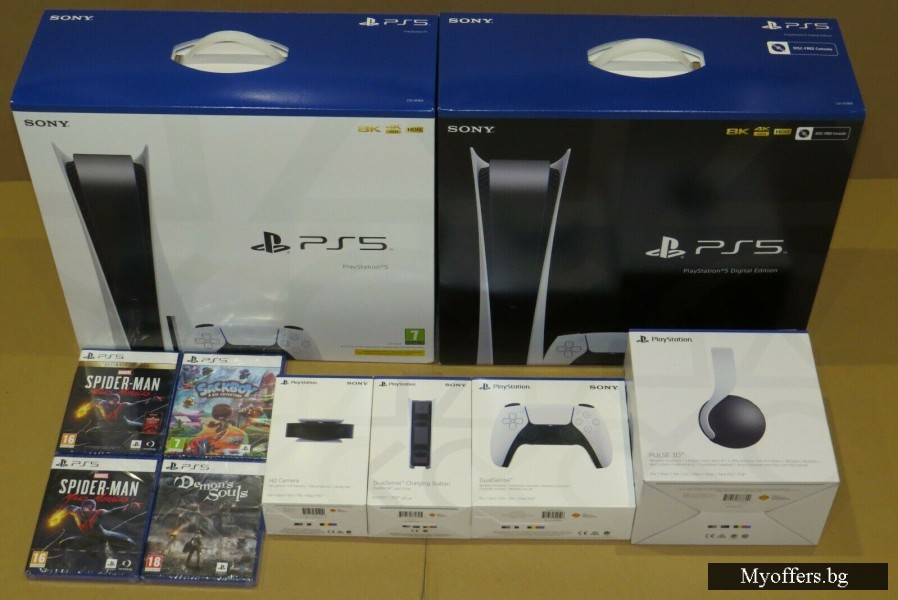 SONY PLAYSTATION 5 DISC VERSION BUNDLE W/ EXTRA CONTROLLER & SPIDERMA